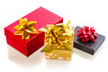 Christmas presents over white Royalty Free Stock Images