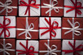Christmas presents top view Royalty Free Stock Photos