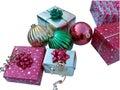 Christmas presents on white Royalty Free Stock Photos