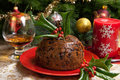 Christmas Pudding With Holly T...