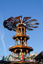 Christmas pyramide fair market in karlsruhe germany with fairy tale figures Royalty Free Stock Images