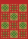 Christmas quilt red,green,gold Royalty Free Stock Photo