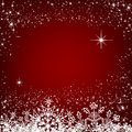 Christmas red background eps card Stock Images