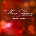 Christmas red background shiny with merry and happy new year Stock Images