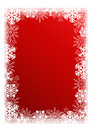 Christmas red background with snowflakes. Royalty Free Stock Images