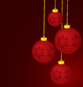 Christmas red balls vector Royalty Free Stock Photos