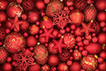 Christmas Red Bauble Decorations Royalty Free Stock Photo