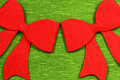 Christmas red bows Stock Photo