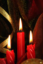 Christmas red candles Stock Image
