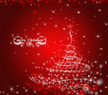 Christmas red decorative background illustration Royalty Free Stock Photography