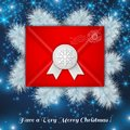Christmas red envelope with white wax seal. Stock Image