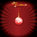 Christmas Red Globe Royalty Free Stock Images