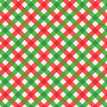 Christmas red and green gingham fabric seamless pattern included cloth background with texture plus in swatch palette for vector Stock Images