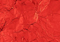 Christmas red shiny abstract crumpled paper background