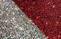 Christmas red and silver background