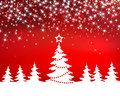 Christmas red sparkle vector background with tree Royalty Free Stock Images
