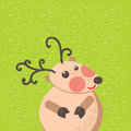 Christmas reindeer card cute Royalty Free Stock Photo