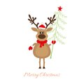 Christmas reindeer with christmas tree this is file of eps format Stock Images