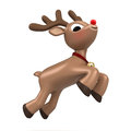 Christmas reindeer flying Royalty Free Stock Image
