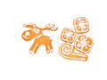 Christmas Reindeer and gifts on the sledge cookies Royalty Free Stock Photo