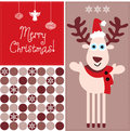 Christmas reindeer holiday illustration Stock Photo