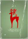 Christmas reindeer illustration of silhouette with xmas balls Royalty Free Stock Photos