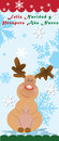 Christmas reindeer this image shows a in the season this sitting on a snowflake night expecting good behind him you can see Royalty Free Stock Image