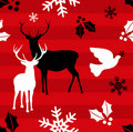 Christmas reindeer pattern background Royalty Free Stock Photography
