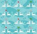 Christmas reindeer seamless pattern background Royalty Free Stock Images
