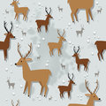 Christmas reindeer seamless pattern winter with Royalty Free Stock Images