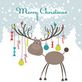 Christmas reindeer. Vector illustration Stock Photography