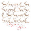 Christmas reindeers Stock Photos