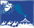 Christmas religious nativity scene Royalty Free Stock Photo