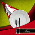 Christmas Restaurant Menu Royalty Free Stock Photo