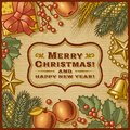 Christmas Retro Card Royalty Free Stock Photo