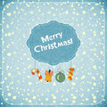Christmas retro greeting Card with toys Stock Photography