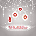 Christmas retro vintage greeting card vector illustration Stock Images