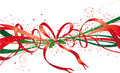 Christmas ribbon Royalty Free Stock Photos