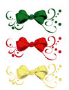 Christmas Ribbon Set Royalty Free Stock Photos