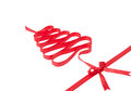 Christmas ribbon tree Royalty Free Stock Photo