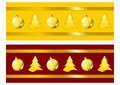 Christmas ribbons Royalty Free Stock Photography