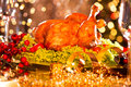 Christmas roasted turkey Royalty Free Stock Photo