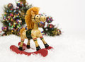 Christmas Rocking Horse Stock Image