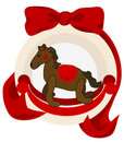 Christmas Rocking Horse Royalty Free Stock Photo