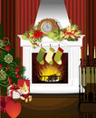Christmas room . Royalty Free Stock Photography