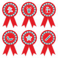 Christmas rosettes Royalty Free Stock Photography