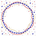 Christmas round color beads garland frame Royalty Free Stock Photo