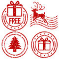 Christmas rubber stamps Stock Photography