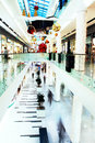 Christmas rush in mall a shopping center a perspective view Stock Photography