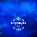 Christmas sale abstract blue background geometric Royalty Free Stock Photography